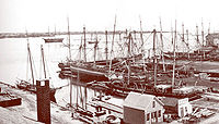 View of historic New Bedford harbor