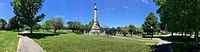 Soldiers and Sailors Monument stands in the center of Clasky Common Park.