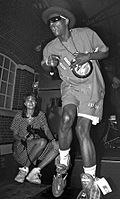 Flavor Flav performing in Malmö in 1991.