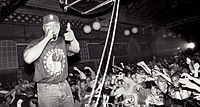 Chuck D. performing in Malmö in 1991