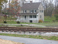 The Hager House and Museum in Hagerstown City Park was once home to the city's founder, Jonathan Hager.