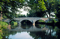 Burnside's Bridge, a site of heavy combat in the Battle of Antietam, which occurred south of Hagerstown.