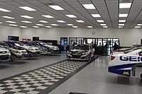 The Germain Race Shop, located in Mooresville, North Carolina in November 2016.