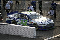 Casey Mears in the No. 13 at the 2013 Toyota Owners 400.