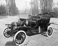 A 1910 Model T, photographed in Salt Lake City