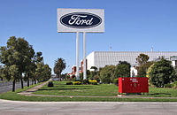The Ford stamping plant in Geelong, Victoria, Australia. It closed in 2016.