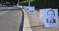 Portraits of deceased Chernobyl liquidators used for an anti-nuclear power protest in Geneva