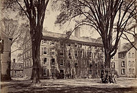 Connecticut Hall, oldest building on the Yale campus, built between 1750 and 1753