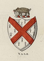 Coat of arms of the family of Elihu Yale, after whom the university was named in 1718