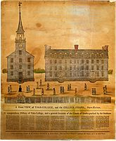 A Front View of Yale-College and the College Chapel, Daniel Bowen, 1786