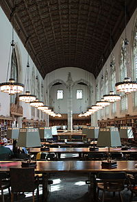 The Starr Reading Room in Sterling Memorial Library