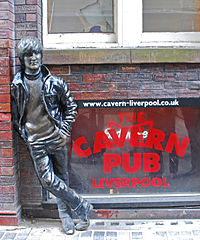 Statue of Lennon outside The Cavern Club, Liverpool