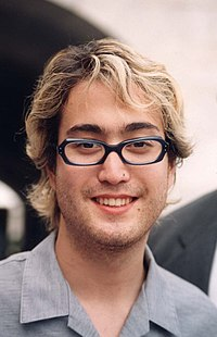 Sean Lennon at a Free Tibet event in 1998