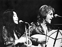 Lennon and Ono performing at the John Sinclair Freedom Rally in December 1971