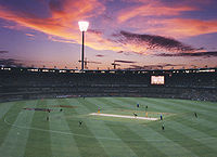 Cricket game at The Gabba
