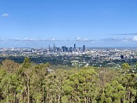 Brisbane from Mount Coot-tha Lookout in the Taylor Range