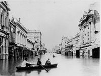 Queen Street during the 1893 flood