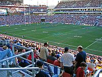Rugby league game at Lang Park