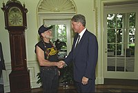 Nelson with President Bill Clinton in 1993