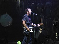 Vedder with Pearl Jam in London, England on June 18, 2018