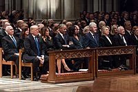 The state funeral of George H. W. Bush in December 2018