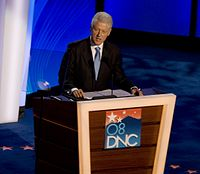 Clinton speaking at the 2008 Democratic National Convention