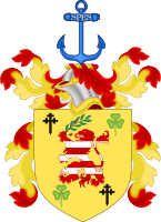 Clinton's coat of arms, granted by the Chief Herald of Ireland in 1995