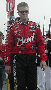 Dale Earnhardt Jr. (pictured in 2002) claimed his first Budweiser Shootout victory and his third at Daytona International Speedway.