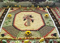 A food decoration for Erntedankfest, a Christian Thanksgiving harvest festival celebrated in Germany