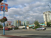 Lonsdale Avenue at 13th Street is a major intersection of Central Lonsdale