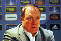 Dick Advocaat with AZ in 2014.