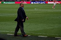 Advocaat on the touchline as manager of Sunderland in May 2015.