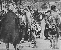 Montenegrin soldiers leaving for the front, October 1914