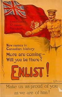Canadian Army recruitment poster
