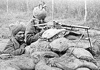 Indian soldiers of the 2nd Rajput Light Infantry on the Western Front, winter of 1914–15