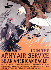 USAAS recruiting poster, 1918