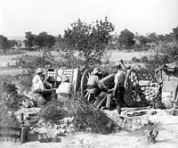 French artillery in action near Gallipoli, 1915