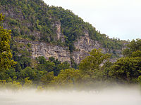 Misty Bluff along the Buffalo River, Ozark Mountains, Arkansas