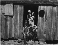 Photo of sharecropper family in Walker County, Alabama, circa 1937