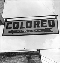 Racial segregation was required by state laws in the South until 1964.