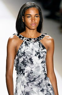 Arlenis Sosa, Dominican fashion model, at the Carlos Miele Spring 2009 Collection