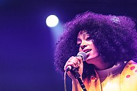 Solange Knowles performing at Coachella in 2014.