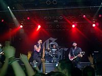 Good Charlotte performing in 2011