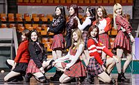 Twice performing at Seoul Arts College in February 2016