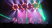 Tool's live performances in 2006 included an elaborate light show using 10,000 Days artwork by painter Alex Grey as a backdrop.