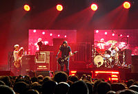 Foo Fighters The band performing live in 2007