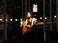 Michelle Branch performing in August 2009.