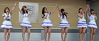The Japanese group AKB48 was one of the most successful J-pop artists of the early 2010s.