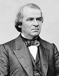 President Andrew Johnson and Republicans fought over Reconstruction