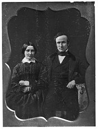 Rutherford and Lucy Hayes on their wedding day